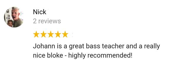 témoignage élève coaching individuel BassistePro.com Nick Winship