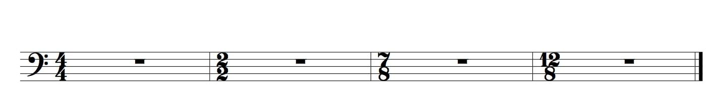 5 temps guitare basse chiffre haut
