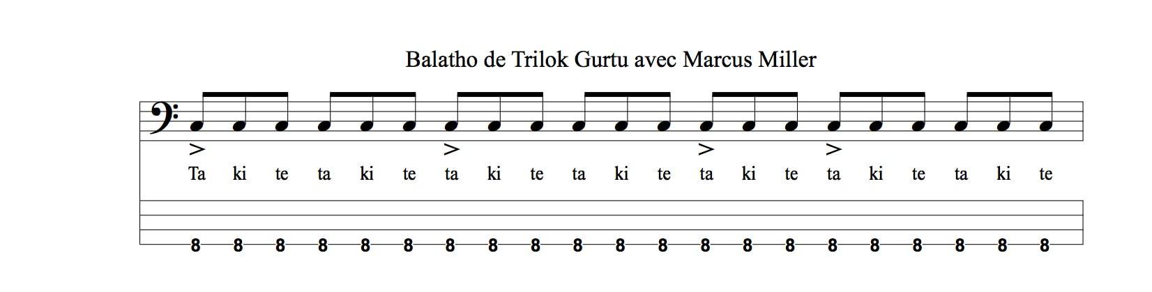 Balatho Trilok Gurtu Marcus Miller subdivision ternaire accent clave