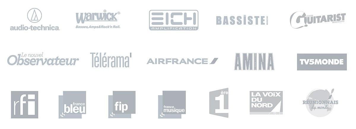 BassistePro Logos Medias et sponsors