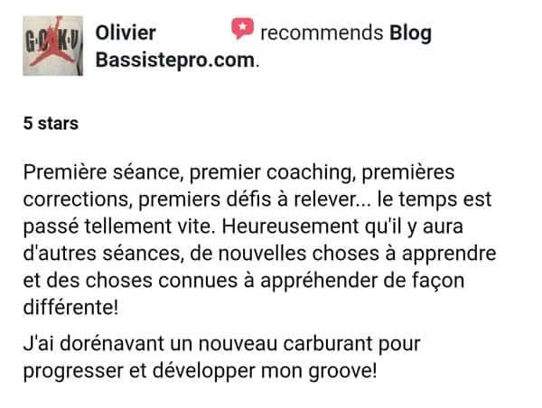 testimonial olivier